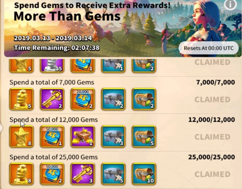 more than gems event Rise of Kingdoms