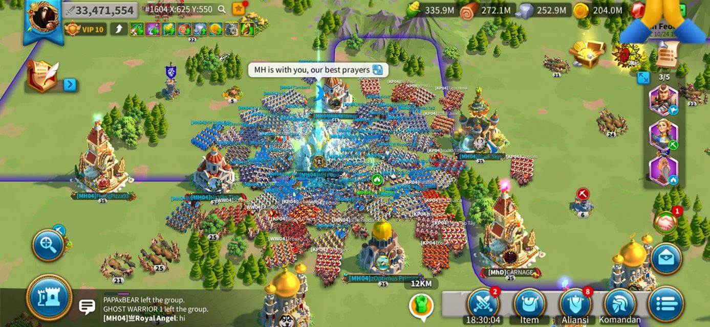 top alliance Rise of Kingdoms