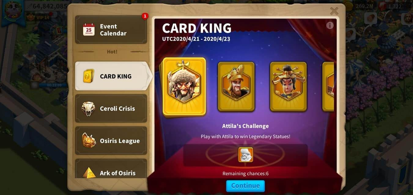 card king event