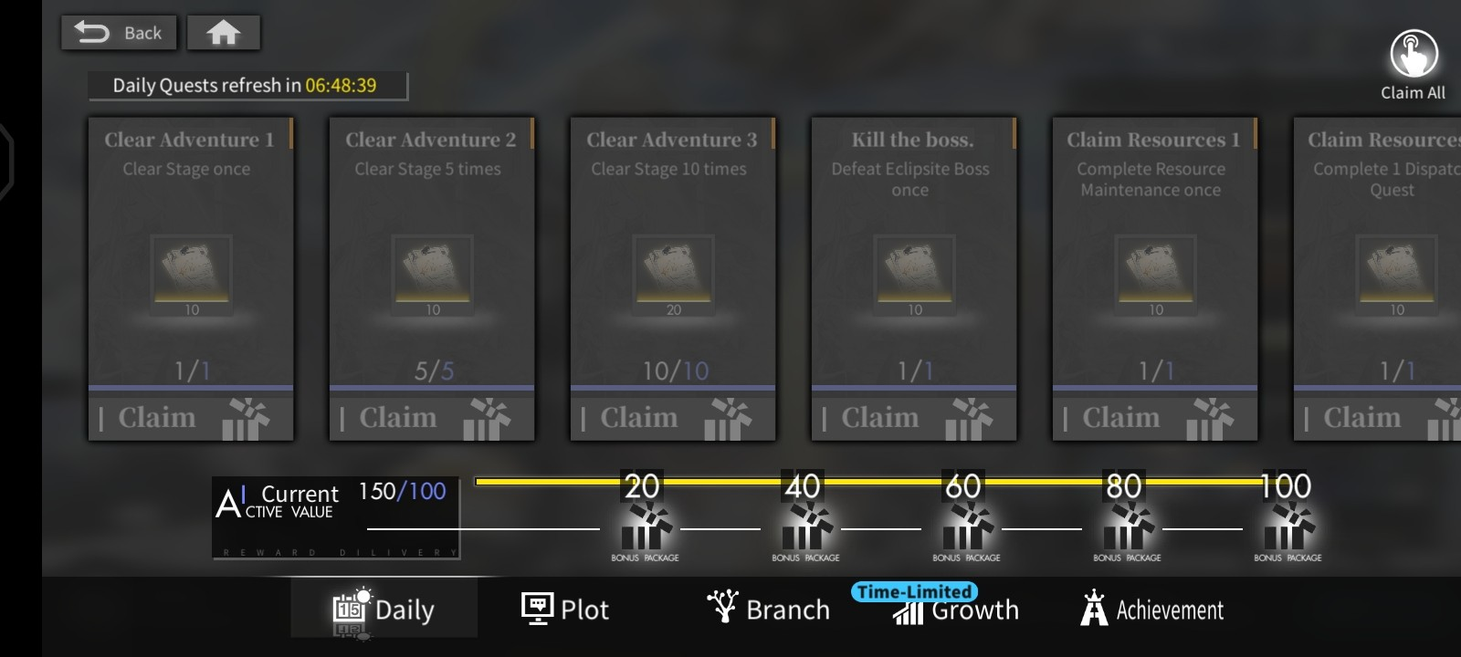 Alchemy Stars Daily Quests