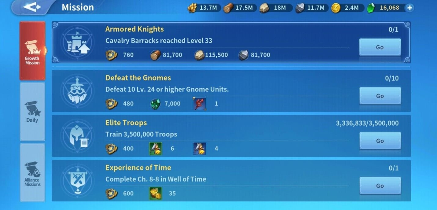 Growth Quests